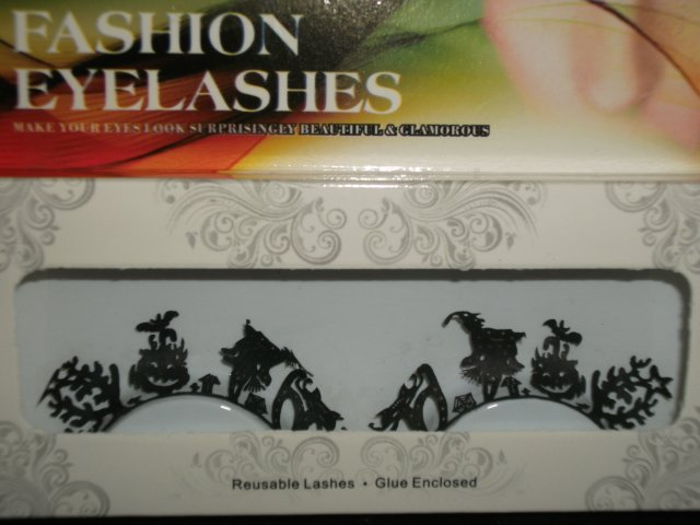 #15 Fashion fake reuseable eyelashes (witch and bat picture) G NBU NBW NBO