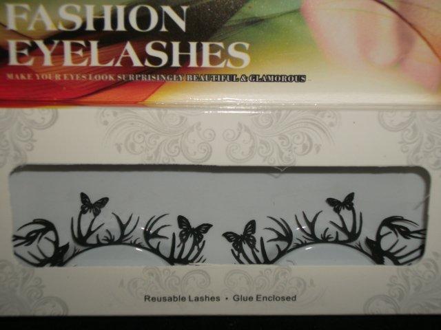 #17 Fashion fake reuseable eyelashes (butterfly picture) G NBU NBW NBO