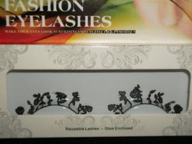 #28 Fashion fake reuseable eyelashes (flower picture) G NBU NBW NBO