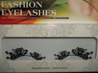 #30 Fashion fake reuseable eyelashes (flower picture) G NBU NBW NBO