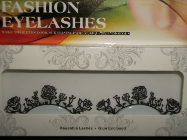 #31 Fashion fake reuseable eyelashes (flower picture) G NBU NBW NBO