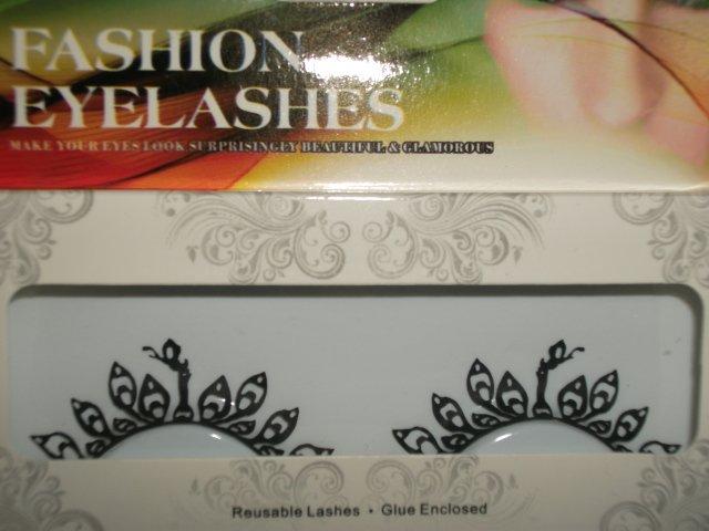 #41 Fashion fake reuseable eyelashes (leaves picture) G NBU NBW NBO
