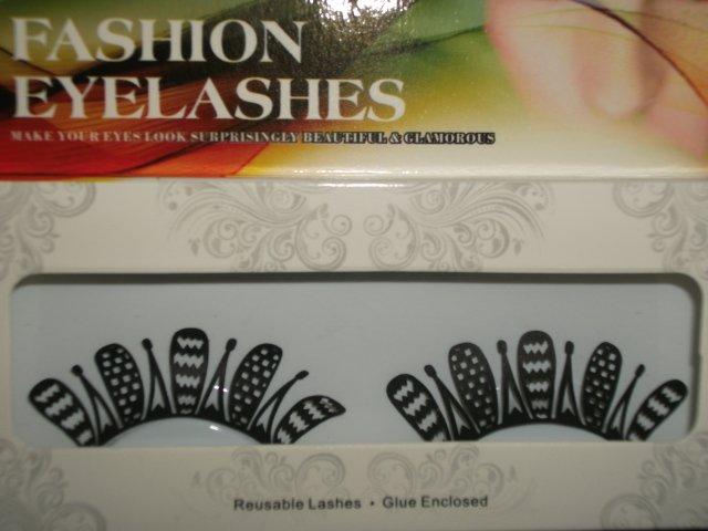 #48 Fashion fake reuseable eyelashes (pattern picture) G NBU NBW NBO