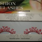 #62 Fashion fake reuseable eyelashes (red plant picture) G NBU NBW NBO