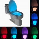 LED Body Sensing Motion Activated Bathroom Toilet Night Light 8 Colors Lamp New