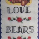 THREE BEARS  (bookmark) - embroidery