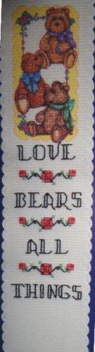THREE BEARS  (bookmark) - embroidery