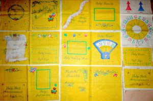 BABY'S MEMORY BOOK- fabric panel