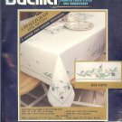"Bucilla Pfaltzgraff - April Pattern- 60x90"" Tablecloth"