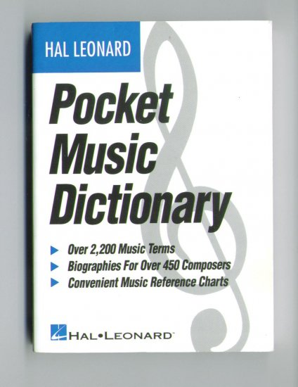 POCKET MUSIC DICTIONARY - The most contemporary music dictionary [by Hal Leonard] - A PERFECT GIFT!