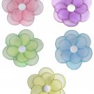 "8"""" Lot Glitter Daisy Flowers 5 piece Set daisies flower (Pink, Purple, Yellow, Blue, Green) - nylon"