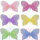 "5"""" Lot Jewel Butterflies 6 piece Set butterfly (Pink, Dark Pink (Fuschia), Purple, Yellow, Blue, Gr"