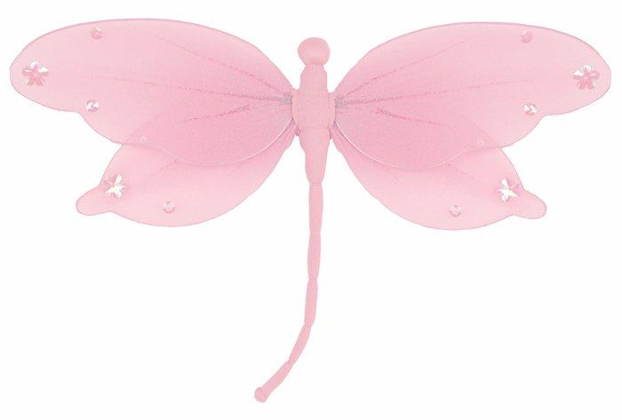 "13"""" Pink Jewel Dragonfly - nylon hanging ceiling wall baby nursery room wedding decor decoration de"