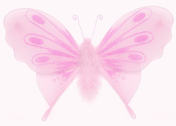 """10"""""""" Pink Marabou Feathers Butterfly - nylon hanging ceiling wall baby nursery room wedding decor de"""