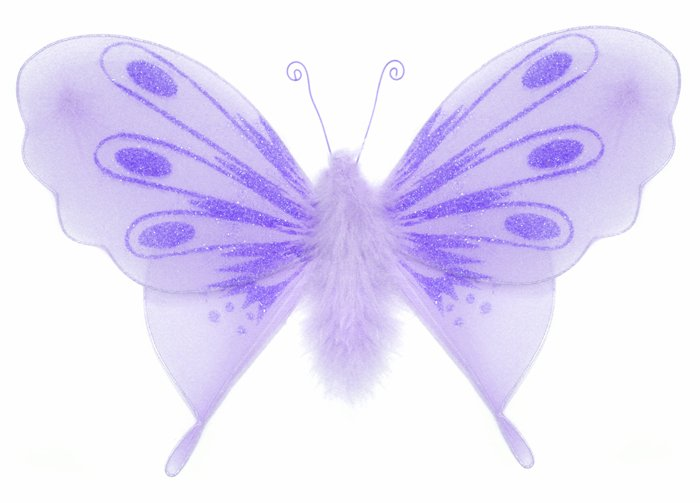"""10"""""""" Purple Marabou Feathers Butterfly - nylon hanging ceiling wall baby nursery room wedding decor"""