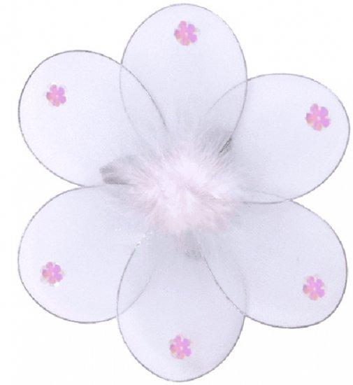 "8"""" White Marabou Daisy Flower - nylon hanging ceiling wall baby nursery room wedding decor decorati"