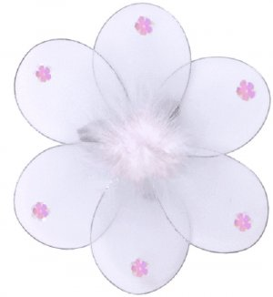 "8"""" White Marabou Daisy Flower - nylon hanging ceiling wall baby nursery room wedding decor decorati"