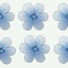 "2"""" Blue Mini Daisy Flower Daisies Flowers 6pc set - nylon hanging ceiling wall baby nursery room we"