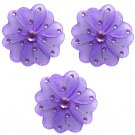 "4"""" Purple Mini Wire Daisy Flower Daisies Flowers 3pc set - nylon hanging ceiling wall baby nursery"