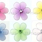 "2"""" Assorted Mini Daisy Flower Daisies Flowers 6pc set (Purple, Dark Pink (Fuschia), Yellow, Blue, G"