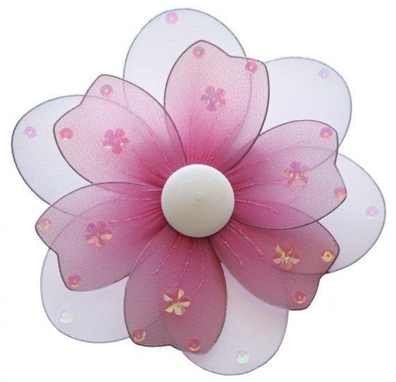 "8"""" Dark Pink (Fuschia) Multi Layered Daisy Flower - nylon hanging ceiling wall baby nursery room we"