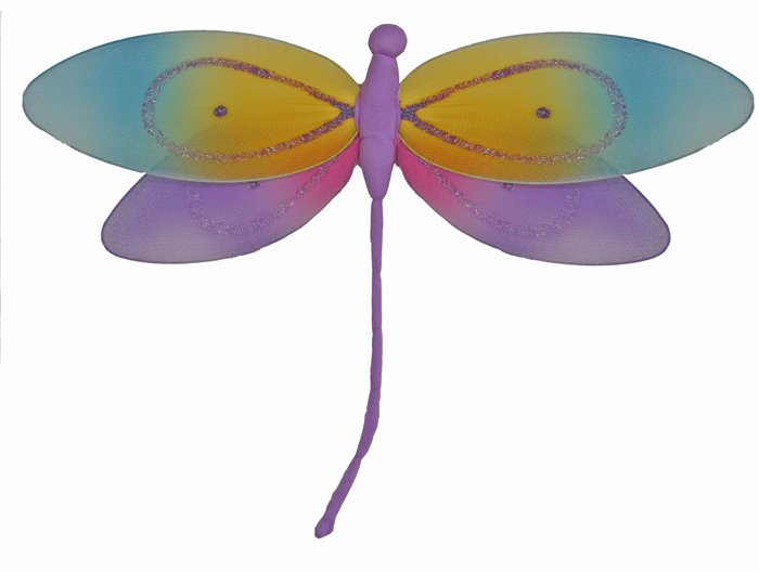 "5"""" Purple Rainbow Dragonfly - nylon hanging ceiling wall baby nursery room wedding decor decoration"
