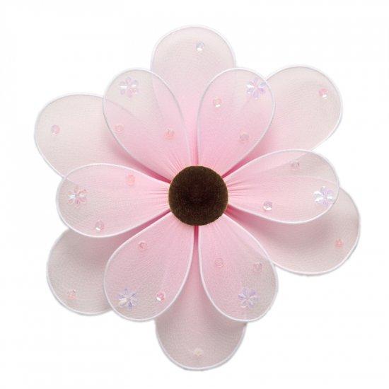 "6"""" Pink Sequined Daisy Flower - nylon hanging ceiling wall baby nursery room wedding decor decorati"