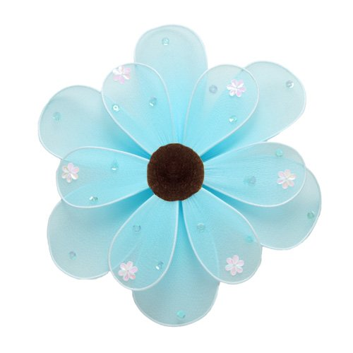 "10"""" Blue Sequined Daisy Flower - nylon hanging ceiling wall baby nursery room wedding decor decorat"
