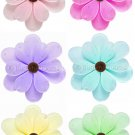 "6"""" Lot Sequined Daisy Flowers 6 piece Set daisies flower (Pink, Purple, Yellow, Blue, Green and Dar"