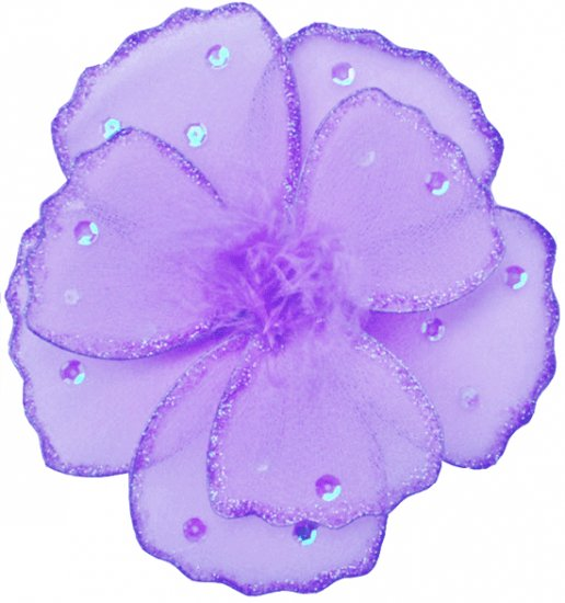 "6"""" Purple Shimmer Daisy Flower - nylon hanging ceiling wall baby nursery room wedding decor decorat"