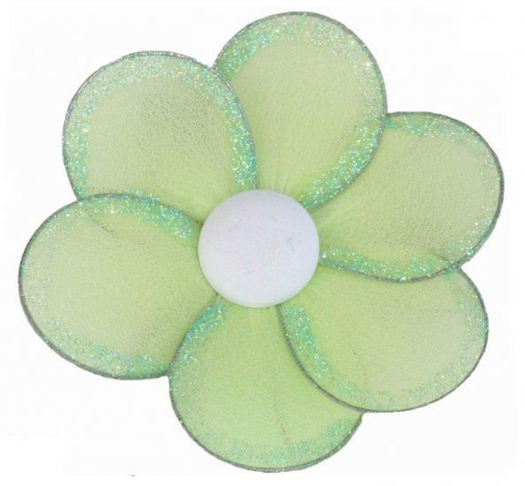 "8"""" Green Single Layer Daisy Flower - nylon hanging ceiling wall baby nursery room wedding decor dec"