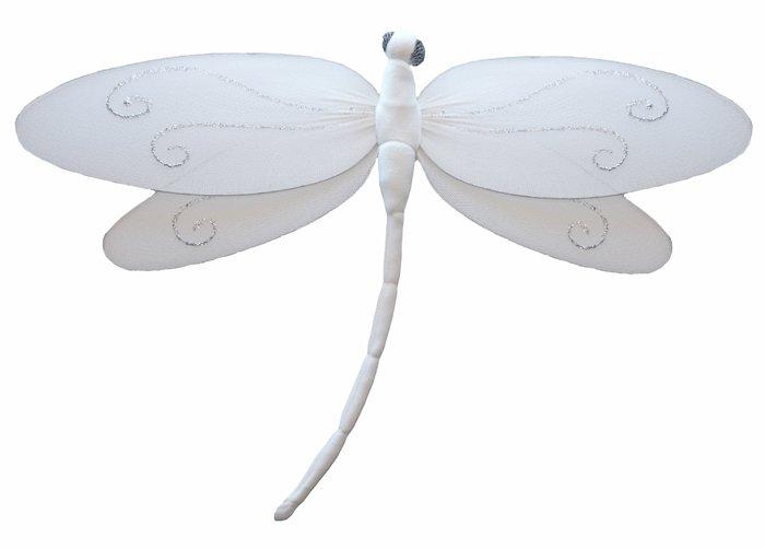 "7"""" White Swirl Dragonfly - nylon hanging ceiling wall baby nursery room wedding decor decoration de"