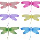 "10"""" Lot Swirl Dragonflies 6 piece Set dragonfly (Pink, Dark Pink (Fuschia), Purple, Yellow, Blue, G"