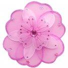"10"""" Dark Pink (Fuschia) & White Triple Layered Daisy Flower - nylon hanging ceiling wall baby nurse"