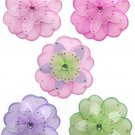 "6"" Triple Layered Flowers 5pc Set (Pink, Purple, Dk Pink, Green) decor decorations"