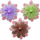 "10"""" Lot Two-Tone Daisy Flowers 3 piece Set Daisies Flower (Pink & Green, Pink & Brown, Pink & Purpl"