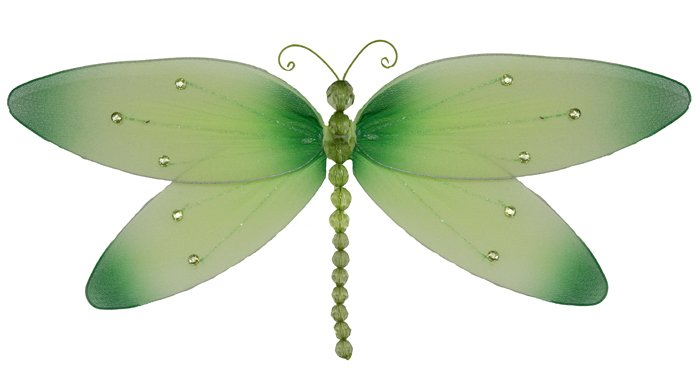 "7"""" Green Crystal Dragonfly - nylon hanging ceiling wall nursery bedroom decor decoration decoration"