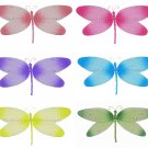 "7"""" Lot Crystal Dragonflies 6 piece Set dragonfly - nylon hanging ceiling wall nursery bedroom decor"