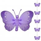 Purple Butterfly Garland String Mobile - nylon hanging ceiling wall nursery bedroom decor decoration