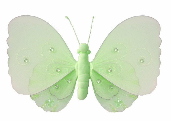 "10"""" Green Gems Layered Butterfly nylon hanging ceiling wall nursery bedroom decor decoration decora"