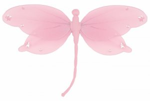 "10"""" Pink Jewel Dragonfly - nylon hanging ceiling wall nursery bedroom decor decoration decorations"