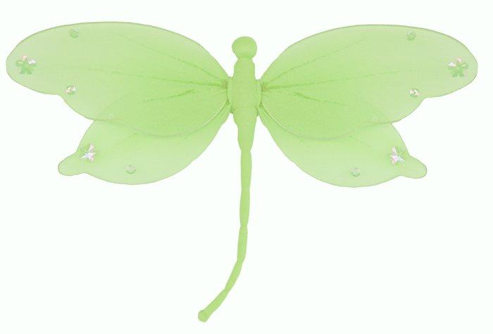 "10"""" Green Jewel Dragonfly - nylon hanging ceiling wall nursery bedroom decor decoration decorations"