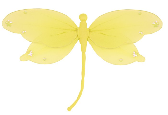 "10"""" Yellow Jewel Dragonfly - nylon hanging ceiling wall nursery bedroom decor decoration decoration"