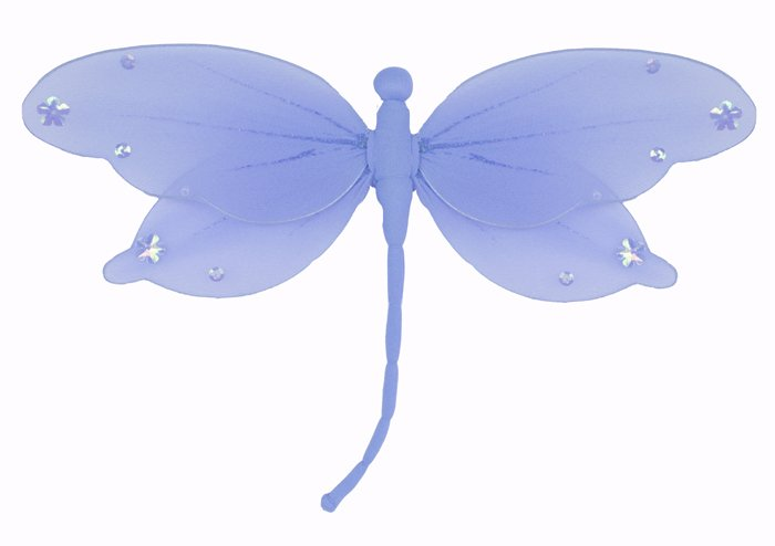 "5"""" Blue Jewel Dragonfly - nylon hanging ceiling wall nursery bedroom decor decoration decorations"