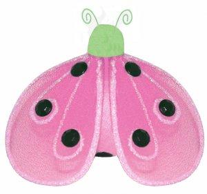 "4"""" Green Pink Shimmer Ladybug - nylon hanging ceiling wall nursery bedroom decor decoration decorat"