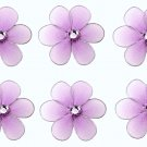 "2"""" Purple Mini Daisy Flower Daisies Flowers 6pc set - nylon hanging ceiling wall nursery bedroom de"