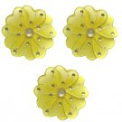 "4"""" Yellow Mini Wire Daisy Flower Daisies Flowers 3pc set - nylon hanging ceiling wall nursery bedro"