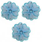 "4"""" Blue Mini Wire Daisy Flower Daisies Flowers 3pc set - nylon hanging ceiling wall nursery bedroom"