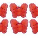 "2"""" Red Black Mini Smiling Ladybugs 6pc set - nylon hanging ceiling wall nursery bedroom decor decor"