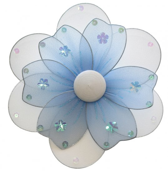 "8"""" Blue Multi Layered Multi Layered Daisy Flower - nylon hanging ceiling wall nursery bedroom decor"
